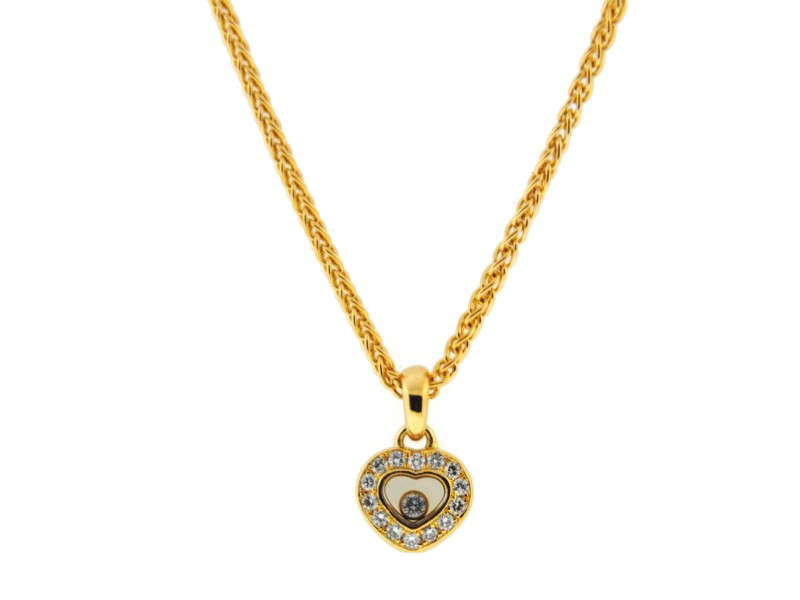 Chopard 18K Yellow Gold & Diamonds Heart Pendant Necklace
