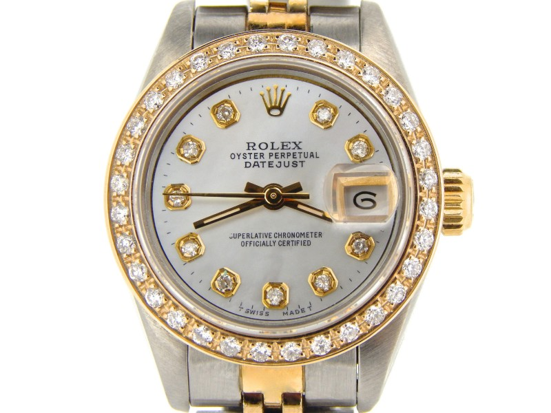 Rolex Datejust 69173 Two Tone 18K Yellow Gold & Stainless Steel Womens Watch