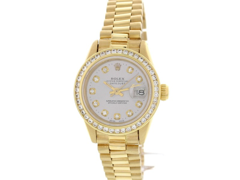 Rolex Oyster Perpetual Datejust Gold Diamonds