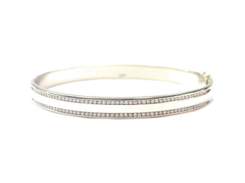 Fine Round Cut Diamond Bangle Bracelet