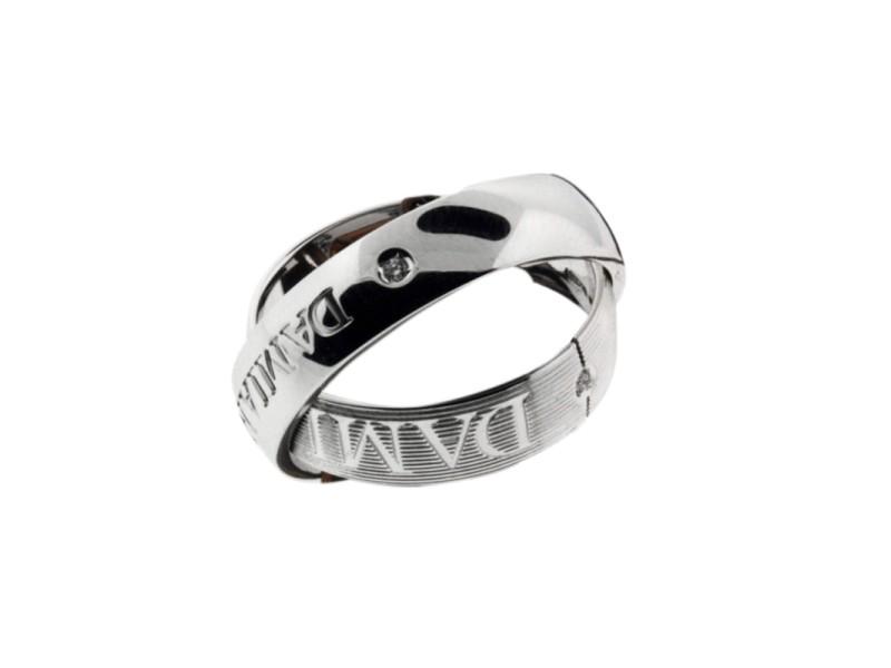 Damiani 18K White Gold Orbital Diamond Ring