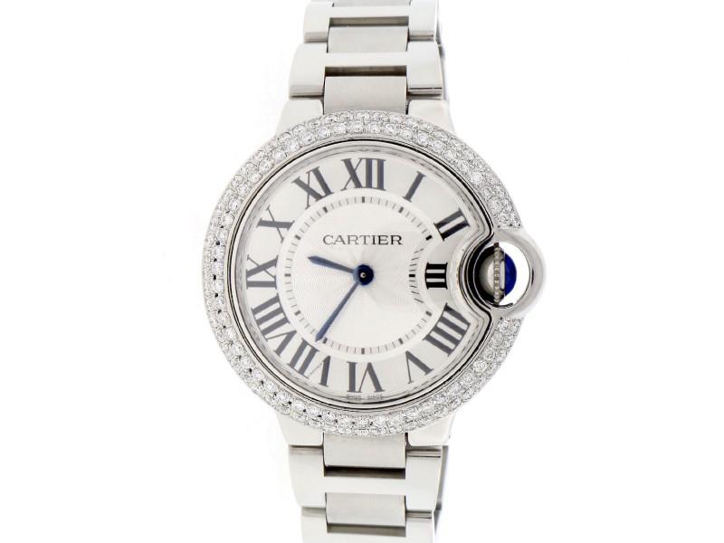 Cartier Ballon Bleu W6920084 Stainless Steel & Silver Dial 33mm Womens Watch