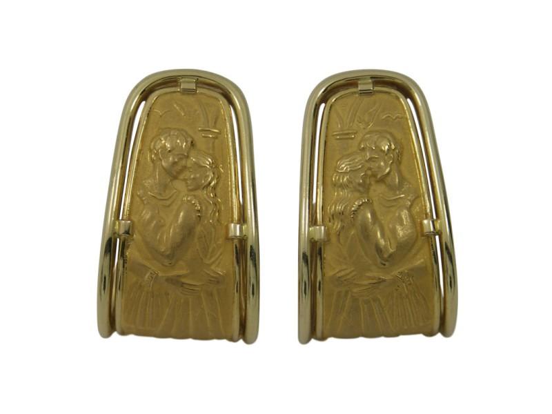 Carrera y Carrera Romeo and Juliet 18K Yellow Gold Earrings