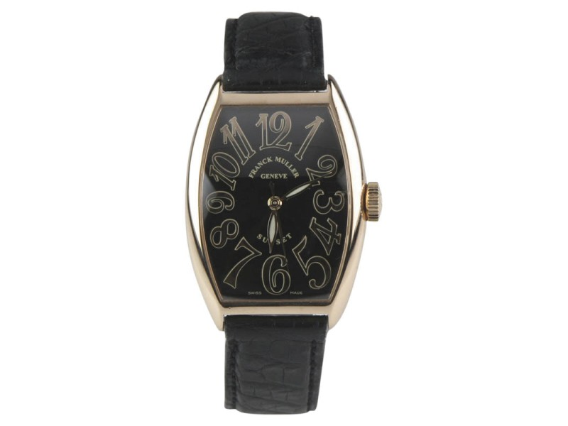 Franck Muller Sunset 18K Rose Gold Automatic 31mm Mens Watch
