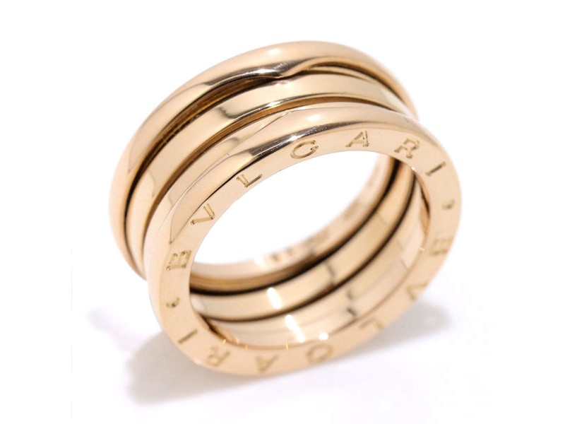 Bulgari 18K Pink Gold B-Zero1 3-Band Ring