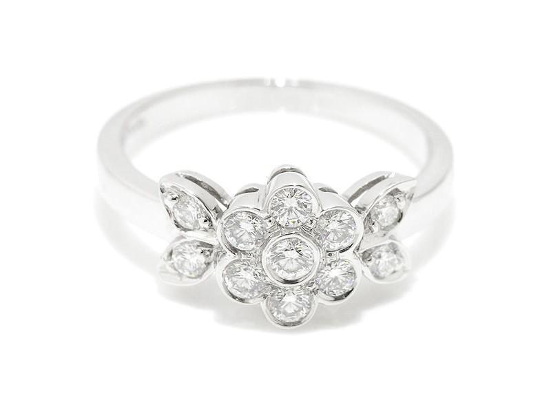 Tiffany & Co. Pt950 Platinum Blossom Diamond Flower Ring Size 5.0
