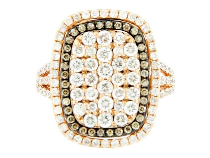 14K Rose Gold & Diamond Split Shank Ring