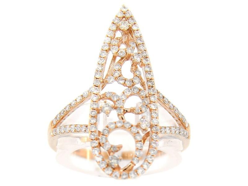 14K Rose Gold & Diamond Ring