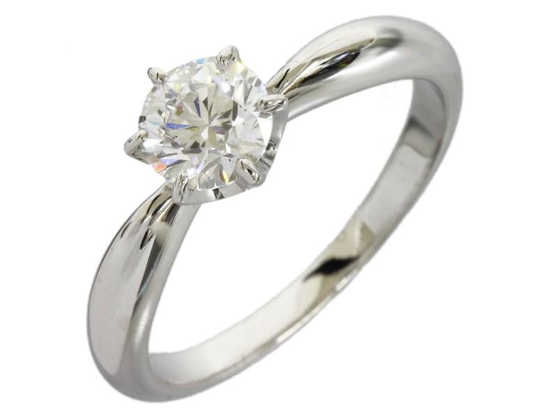 Mikimoto Platinum 0.58ct Diamond Band Ring Size 5.5