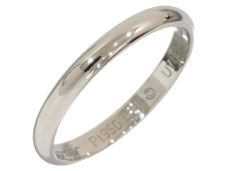 Cartier Platinum Pt950 Band Ring Size 6.25
