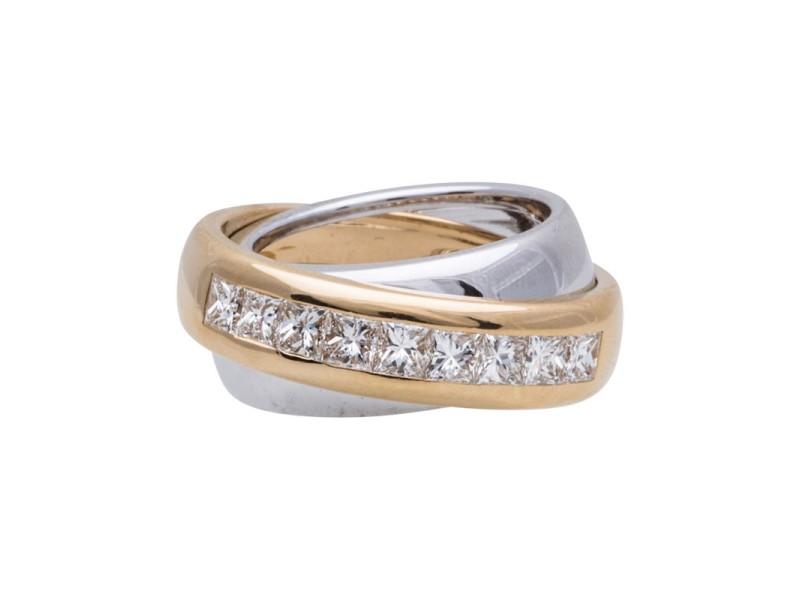 Cartier 18K Yellow & White Gold Diamond Ring