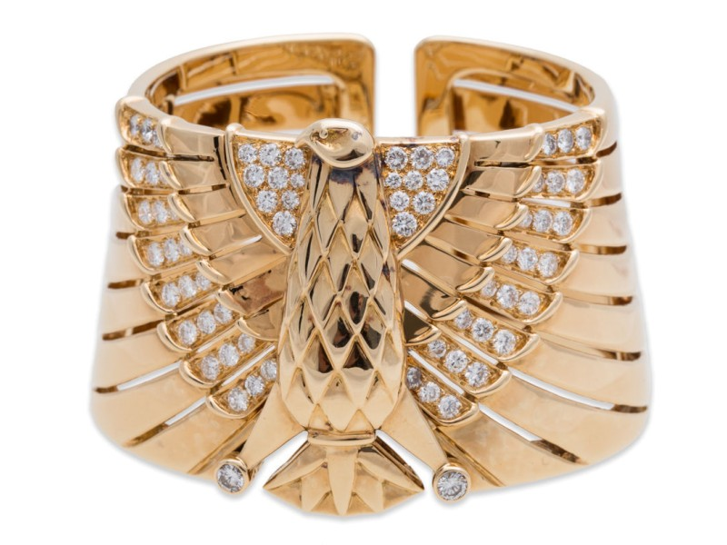 Cartier Egyptian 18k Yellow Gold Revival Bracelet