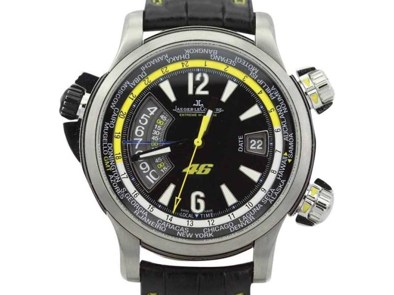 Jaeger LeCoultre Valentino Rossi Master Compressor 177T47V Titanium 46mm Mens Watch