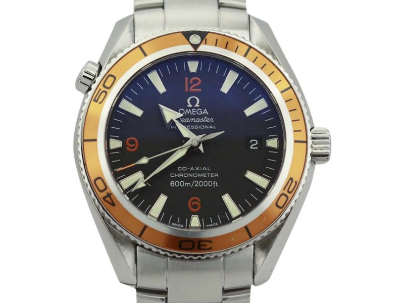 Omega Seamaster Planet Ocean 22095000 Auto Black Dial 42mm Mens Watch