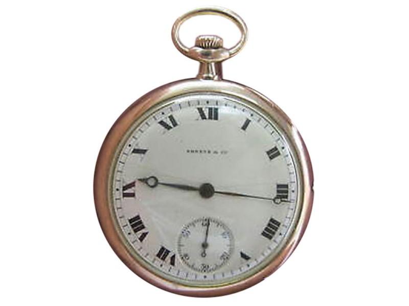Patek Philippe - Shreve & Co. 18K Gold Open Face Pocket Watch