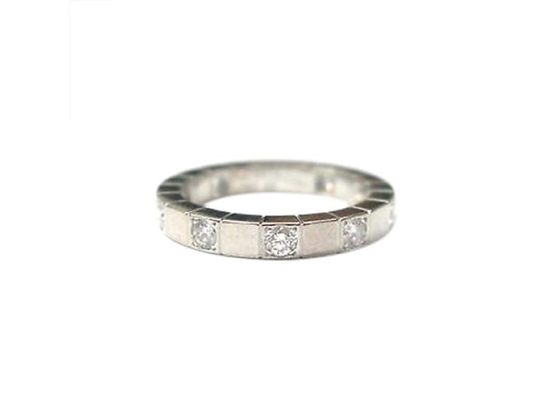 Cartier 18K White Gold Lanieres Diamond Wedding Band Ring