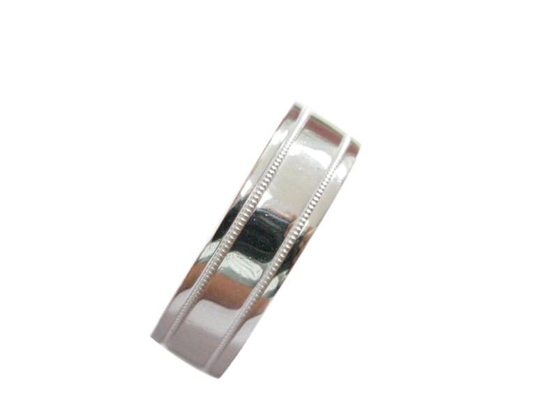 Tiffany & Co PLATINUM Milgrain 6mm wide  Wedding Band Ring