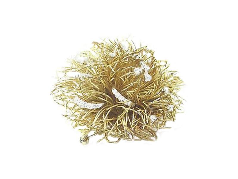 18Kt Diamond Yellow Gold Circular Pin/Brooch 1.50CT