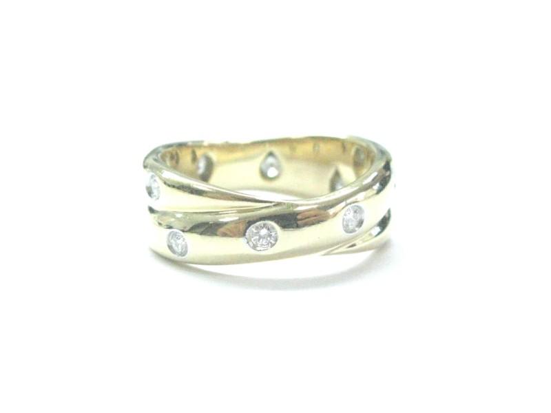 Tiffany & Co. Etoile 18K Yellow Gold Platinum & Diamond Ring