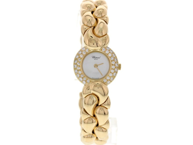 Chopard Casmir 18K Yellow Gold & Diamond Bangle Watch