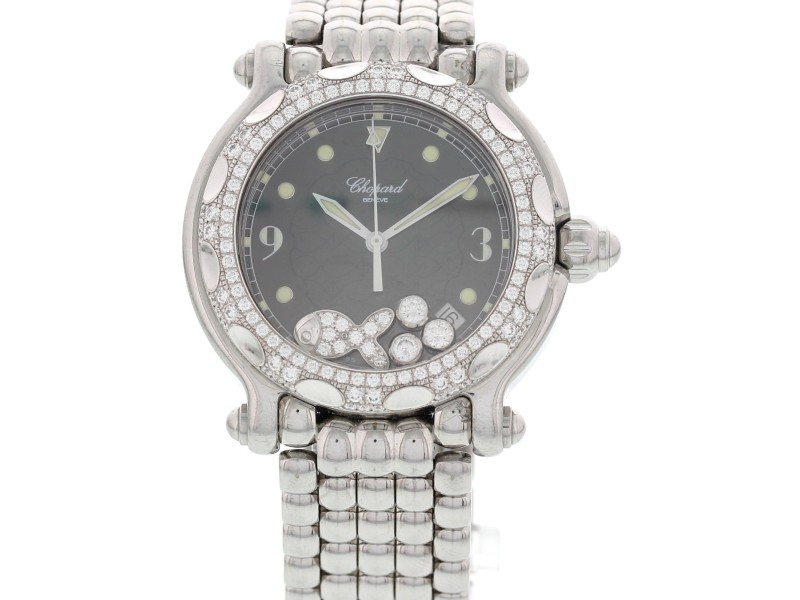 Chopard Happy Sport  8347 Stainless Steel Diamond Fish Womens Watch