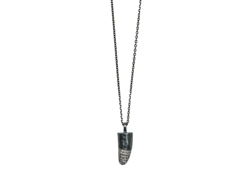 White Diamond Pave Comet Necklace