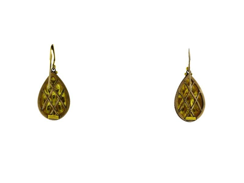 Gurhan 18K Yellow Gold Diamond Earrings