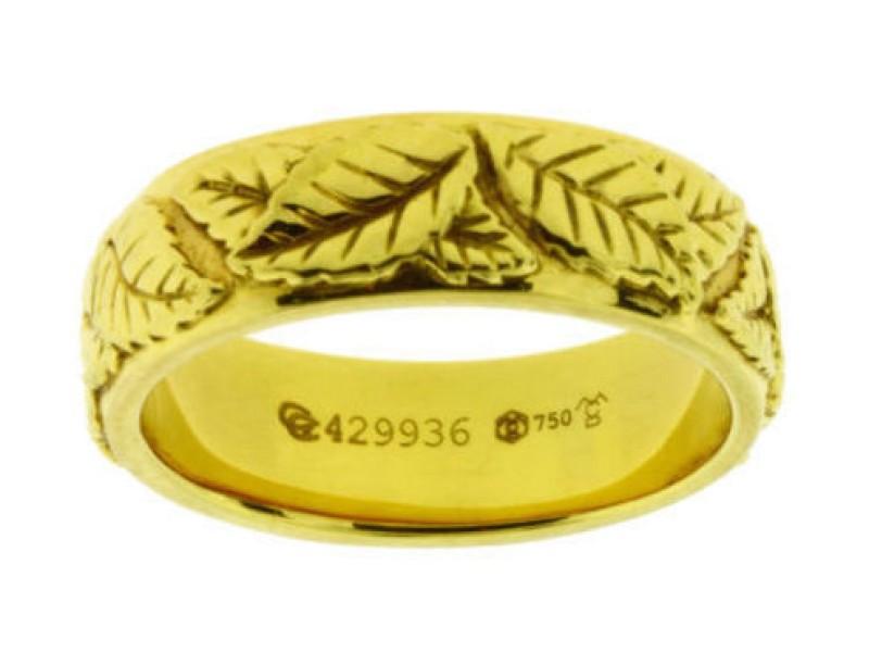 Carrera Y Carrera Leaves 18K Yellow Gold Band
