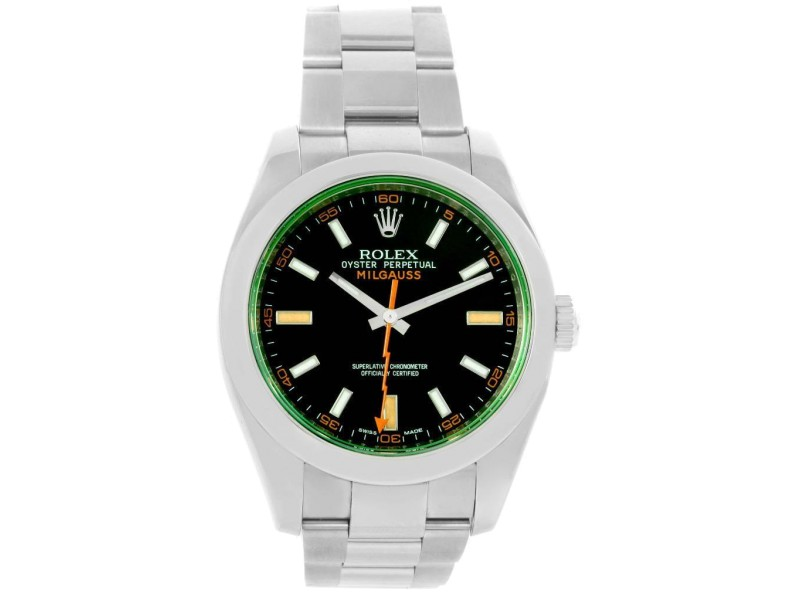 Rolex Milgauss 116400V Stainless Steel With Black Dial Mens Watch