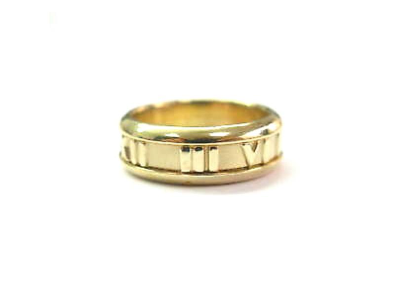 Tiffany & Co. Atlas 18K Yellow Gold Ring