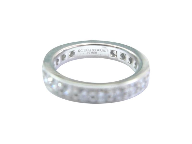 Tiffany & Co. Platinum Legacy Diamond Milgrain Band Ring