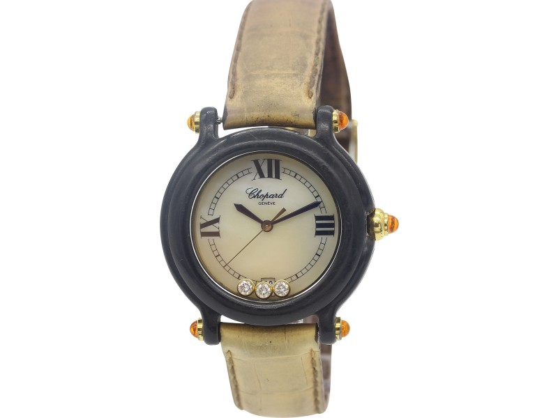 Chopard 9064/9999 Happy Sport Diamond Womens Watch