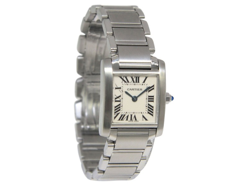 Cartier Tank Francaise 2384 Stainless Steel Quartz Small Womens Watch