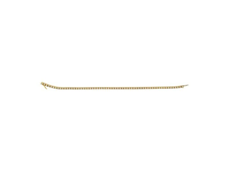 Cartier 18K Yellow Gold Lanieres Diamond Tennis Bracelet 17cm