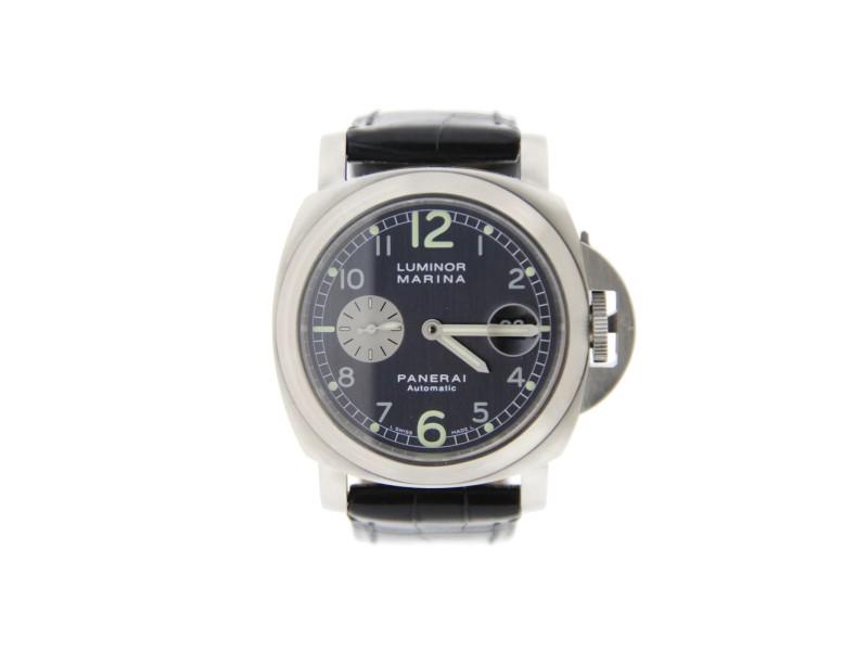 Panerai Luminor Marina PAM86 Anthracite Dial Stainless Steel Watch