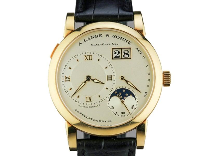 A. Lange & Sohne Lange 1 Moon Phase 18K Yellow Gold Watch 109.021