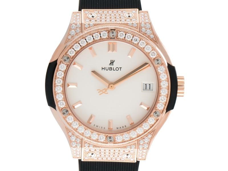 Hublot 581.OX.2611.RX.1704 Black Dial 33mm Watch