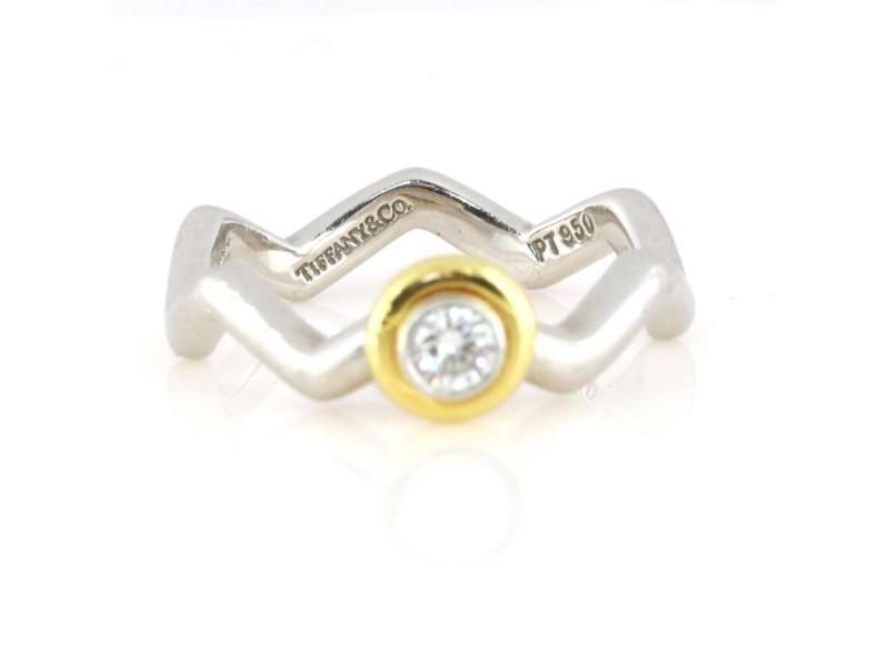 Tiffany & Co. 18K Yellow & White Gold Diamond Paloma Picasso Ring