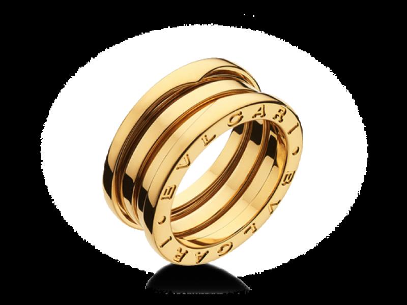 bvlgari bulgari b zero 1 18k yellow gold 3 band an191023 ring