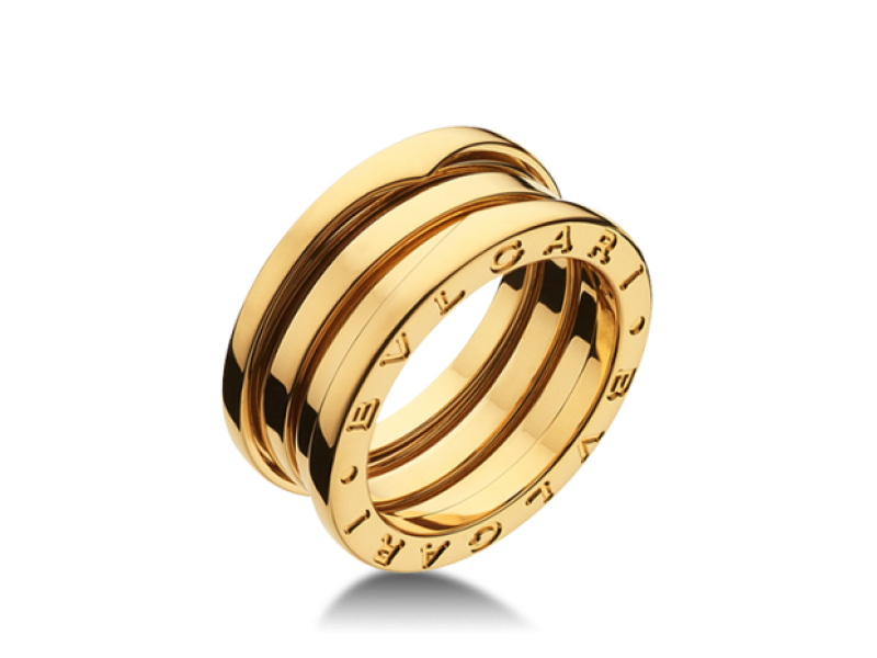 Bvlgari Bulgari B Zero 1 18K Yellow Gold 3 Band AN Ring