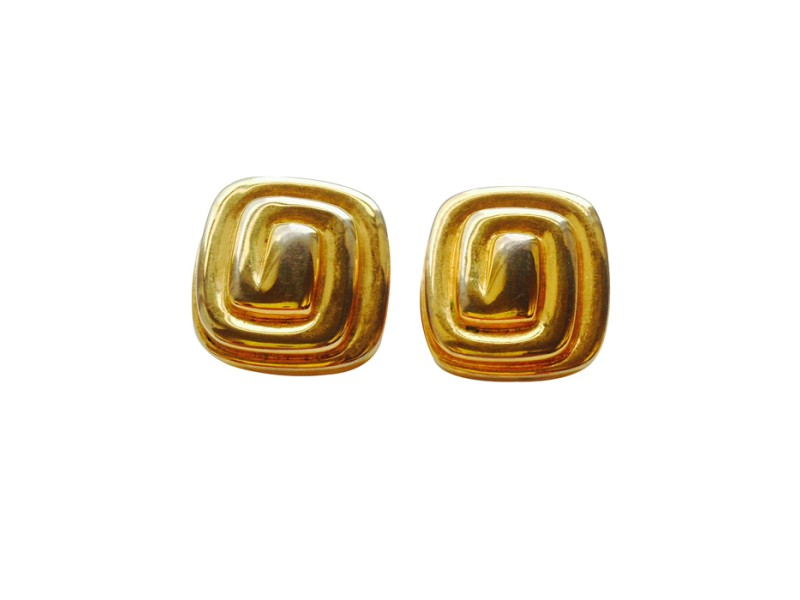 Vintage Givenchy Logo Clip On Earrings