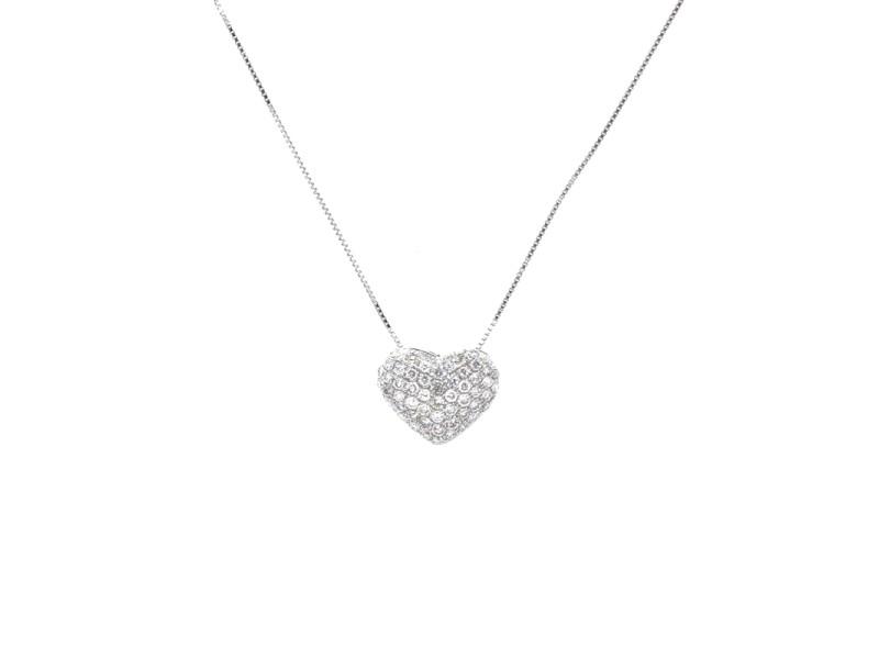 Espresso Diamond Heart Pendant