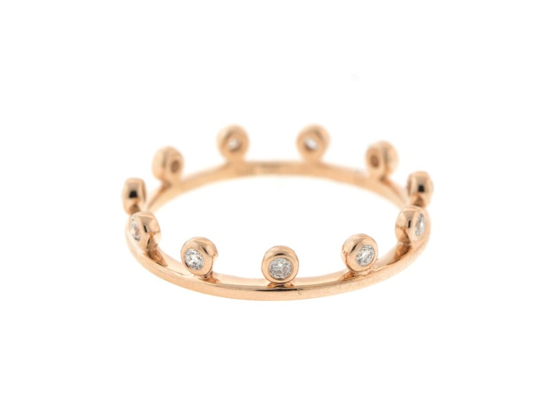 14k Rose Gold Crown Style Ring