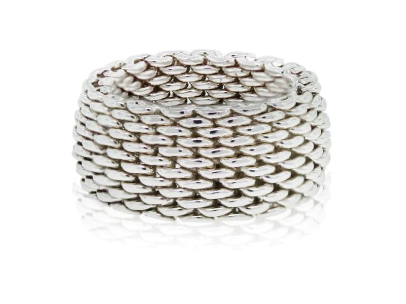 Tiffany Sterling Silver Somerset Mesh Ring