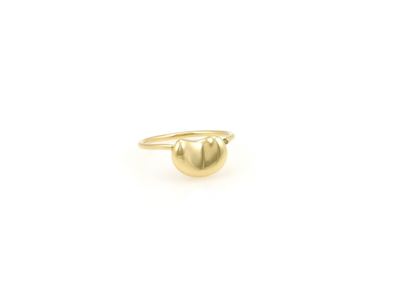 Tiffany Elsa Peretti 18K Yellow Gold Bean Designer Ring