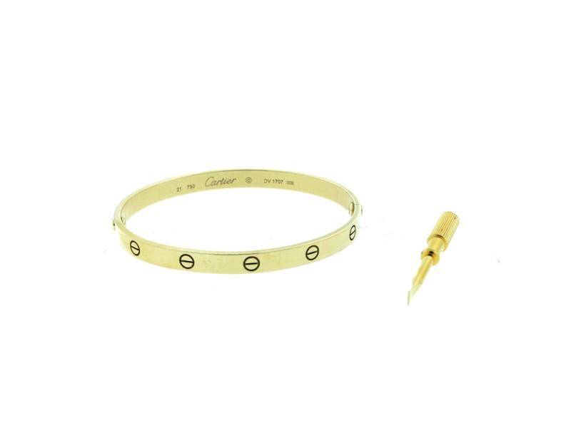 Cartier Love Bracelet Yellow Gold Size 21