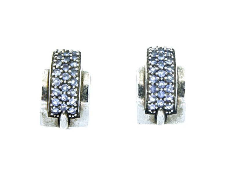 Sterling Silver & Tanzanite Earrings