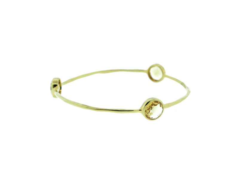 Ippolita Rock Candy 18K Yellow Gold Citrine Bangle