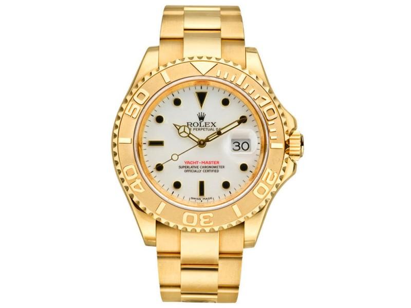 Rolex Yacht-Master 16628 14K Yellow Gold Mens Watch
