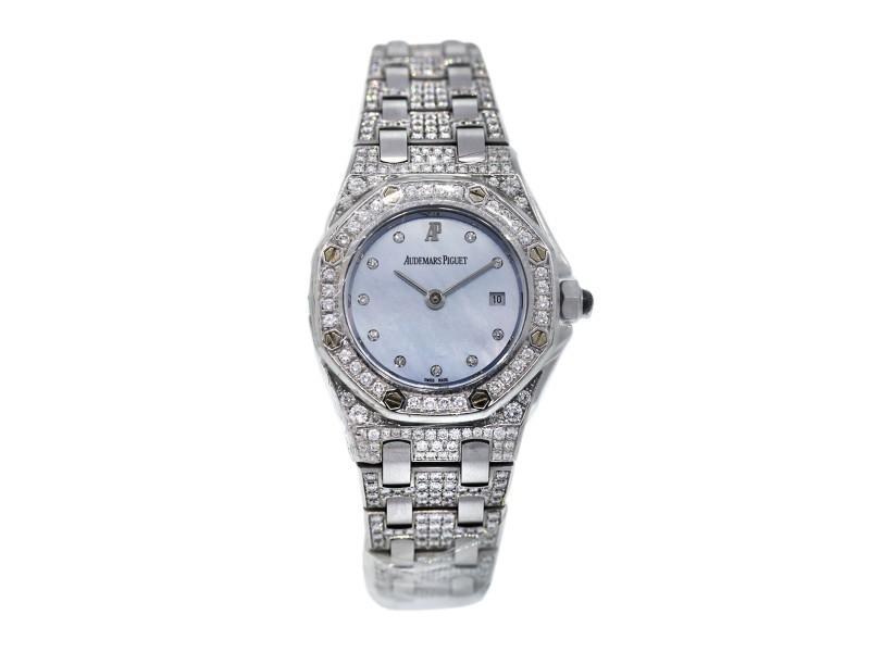 Audemars Piguet Royal Oak 18K White Gold All Diamond Watch